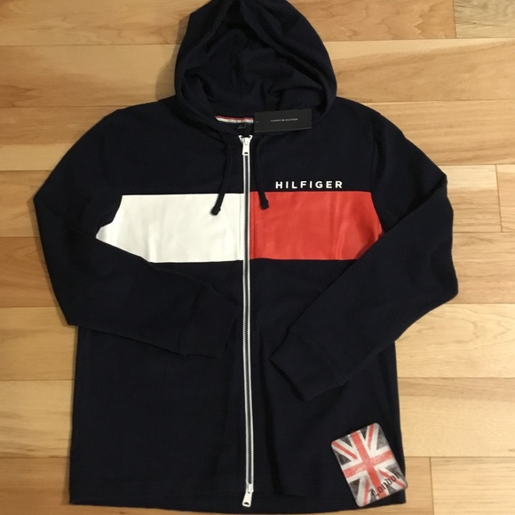 0fb318dc Tommy Hilfiger Shirts | Nwtlast One In Stock Logo Hoodie | Poshmark